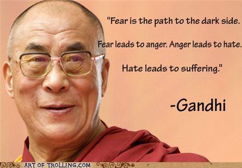 Dalai Lama Ghandi misquotes yoda - 4848428544