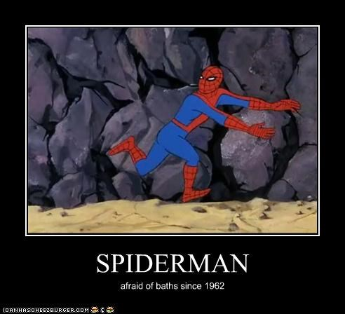 bath,run away,Spider-Man,Super-Lols