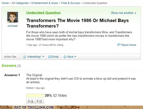 megan fox,movies,transformers,Yahoo Answer Fails
