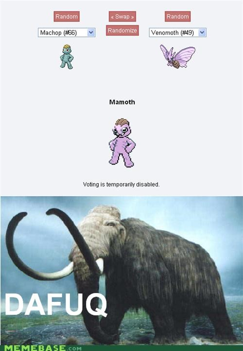 fusion,mammoth,Pokémemes,Pokémon,wat