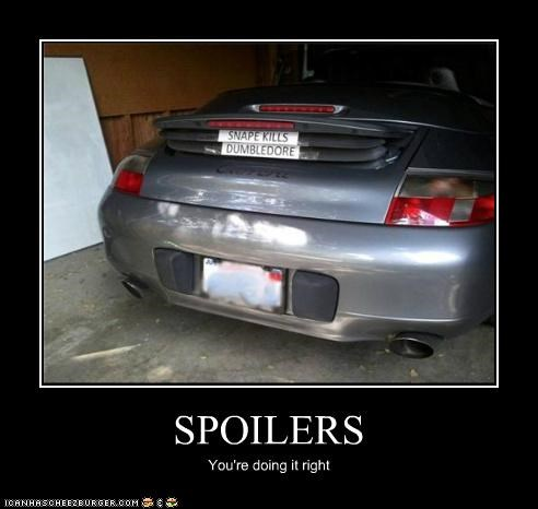 SPOILERS You're doing it right