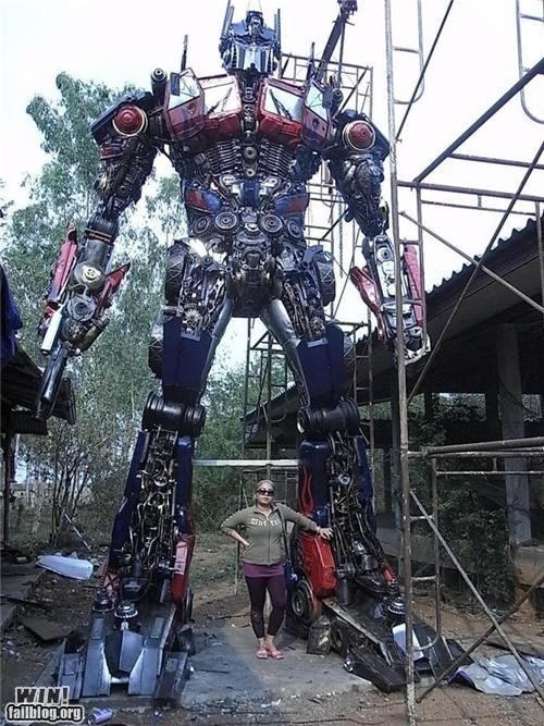 art autobots awesome DIY scrap sculpture - 4849724672