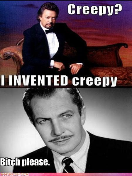 actor celeb funny tim curry vincent price - 4850355712