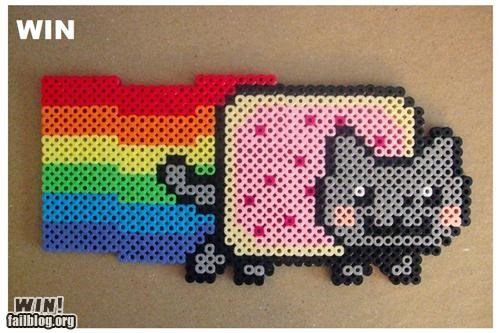 art,beads,DIY,meme,Nyan Cat