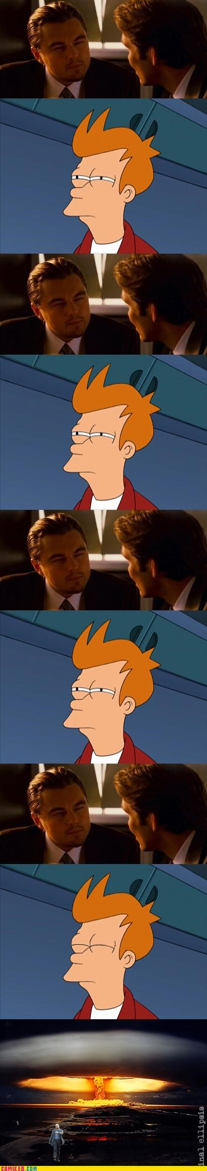 fry,Inception,leonardo dicaprio,Staring,TV