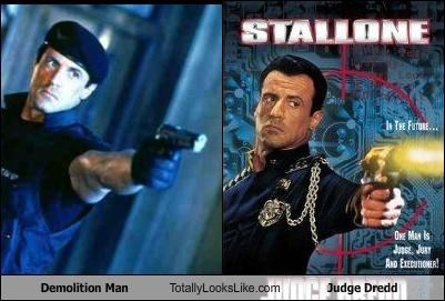 Demolition Man Totally Looks Like Judge Dredd
