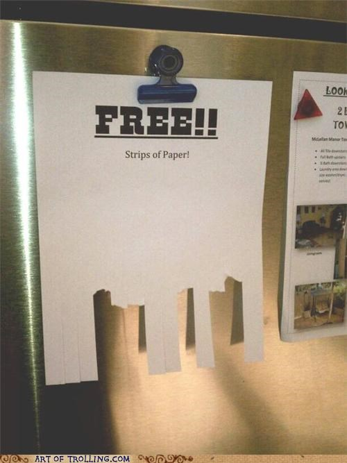 free,fridge,Office,sign