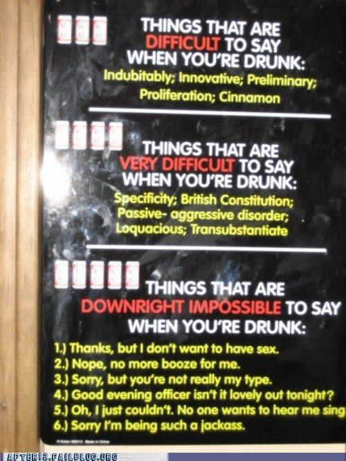 challenges drunk sign - 4851235840