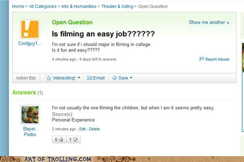 camera filming pedo pedobear Yahoo Answer Fails - 4851259648
