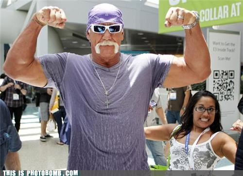 biceps,Celebrity Edition,flex,Hulk Hogan,mall
