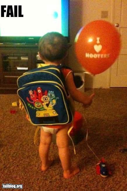 baby ballon failboat g rated hooters Parenting Fail - 4852973312