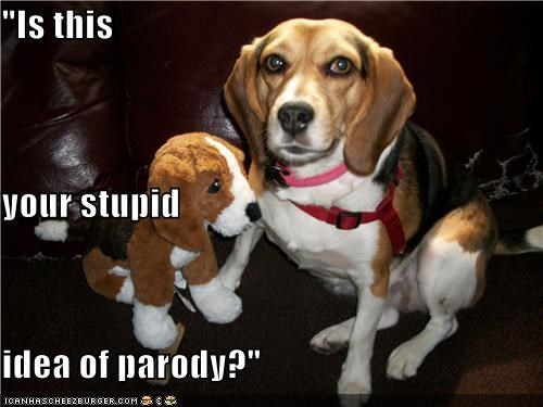 annoyed asking beagle idea parody question sarcasm stuffed animal stupid toy