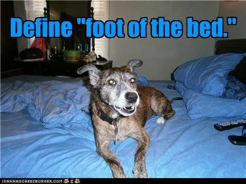 "Define ""foot of the bed."""