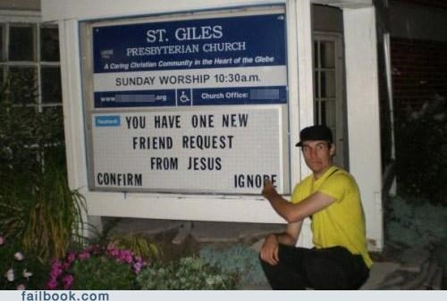 Church Sign friend request image no thanks sign - 4853215744