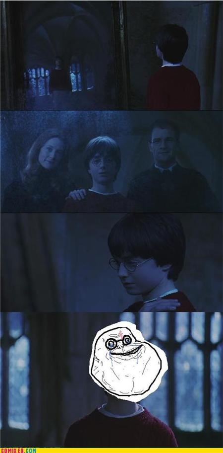 dead,forever alone,Harry Potter,parents