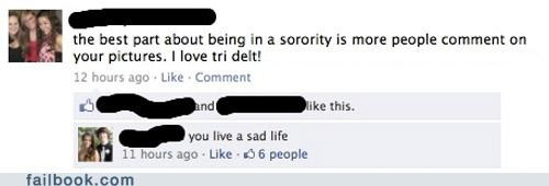 comments,likes,sorority,truth hurts