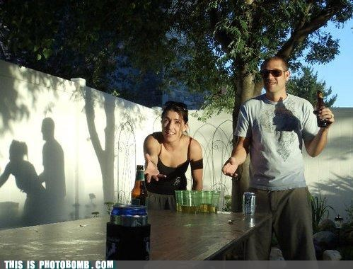 awesome background beer pong outdoors Party shdow