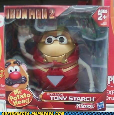 ironman,mr potato head,Random Heroics