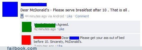 breakfast menu,McDonald's,oh snap