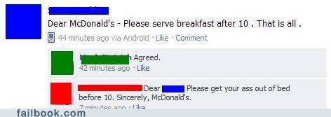 breakfast menu McDonald's oh snap - 4853582336