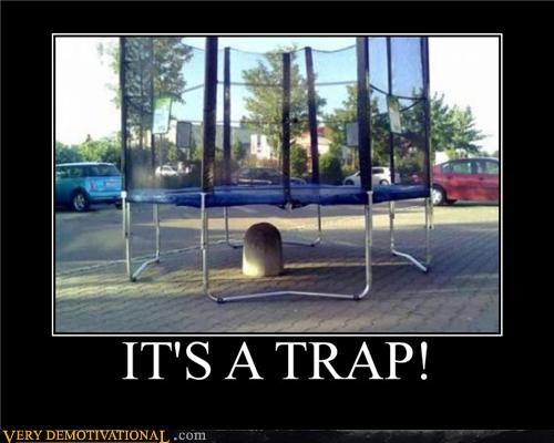 bad idea hilarious ouch rock trampoline - 4853614336