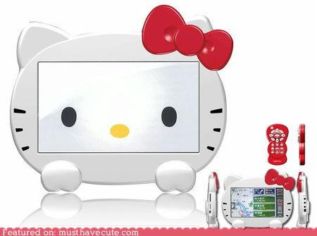 accessory car gadget gps hello kitty - 4853640960