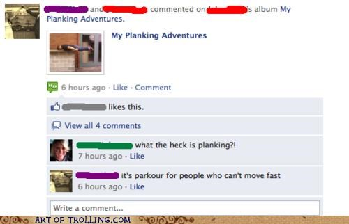 awesome facebook FAIL parkour Planking - 4853641984