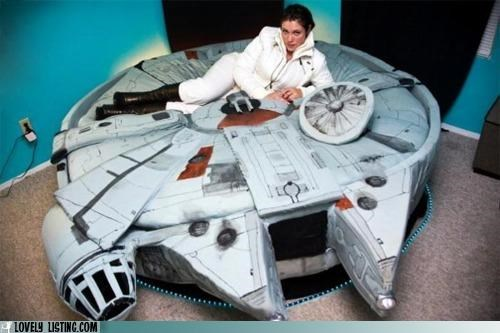 bed,milennium falcon,star wars