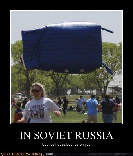 bouncy castle hilarious Soviet Russia uh oh