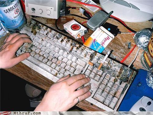 dirty keyboard smoking - 4853829376