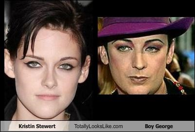 Kristin Stewert Totally Looks Like Boy George