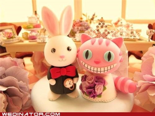 alice in wonderland,cake toppers,funny wedding photos