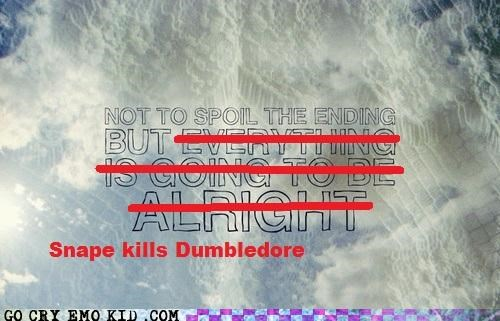 dumbledore,Harry Potter,hipsterlulz,snape,spoilers