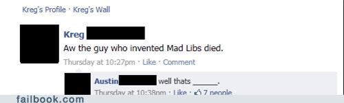 grammar Death rip mad libs