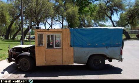 cars tarp truck woody wtf - 4855737600