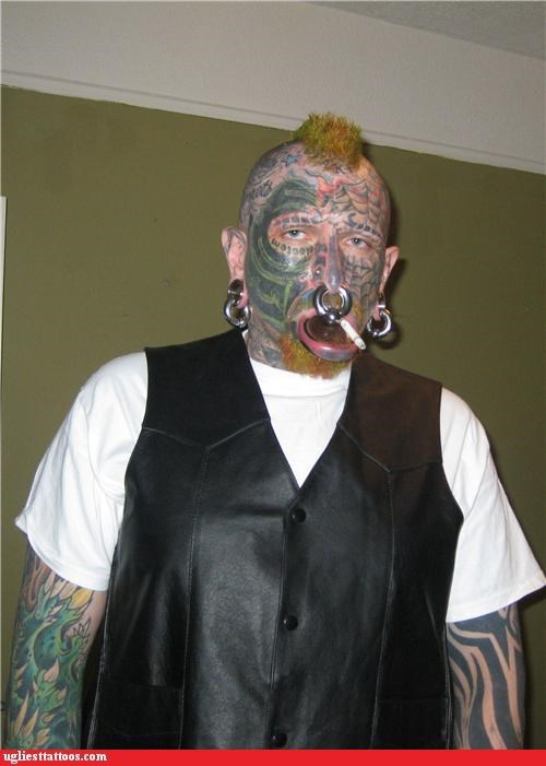 face tats full-body fail other bod mods piercings tribal