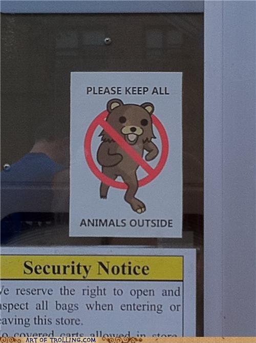 animals IRL pedobear sign - 4857815808