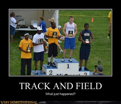 hilarious race racist Track and Field wtf