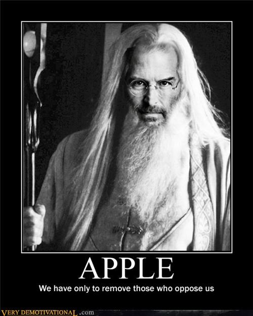 apple,hilarious,Lord of the Rings,sauron,steve jobs