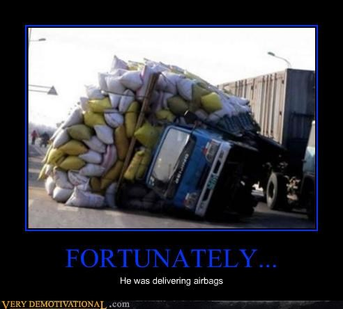 airbags hilarious tipped truck wtf - 4859032832