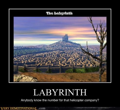 helicopter hilarious labyrinth Movie pain