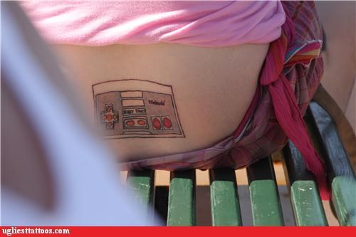 nerdiness,nintendo,poor execution,pop culture,toys and games,tramp stamps,video games