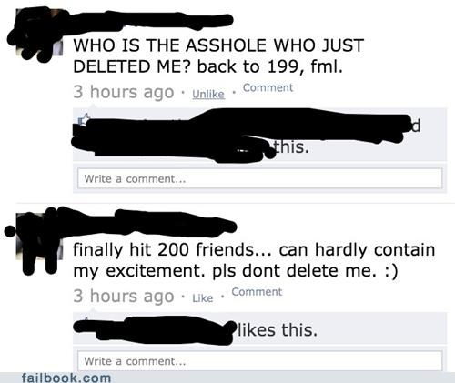 defriended facebook friends friends - 4860192512