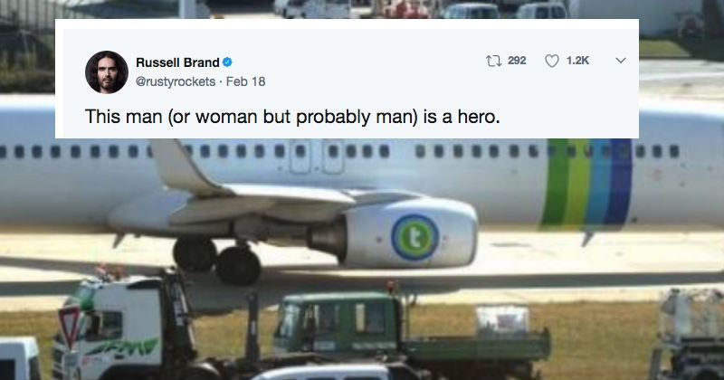 Guy's fart is so bad it literally brings down a plane and people react on Twitter.