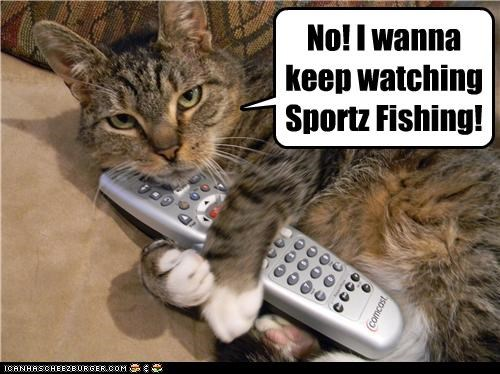 No! I wanna keep watching Sportz Fishing!