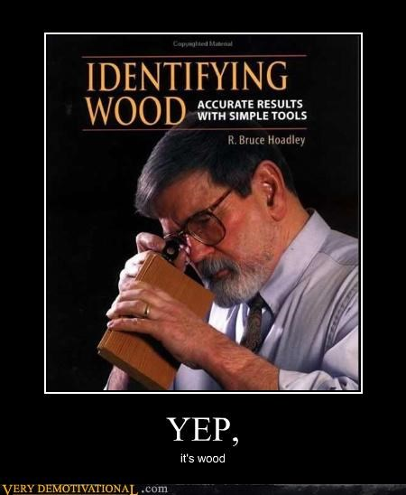 hilarious,identify,wood,yep