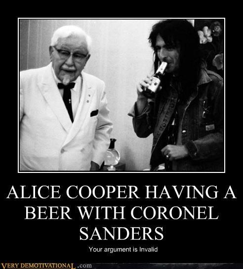alice cooper,col-sanders,hilarious