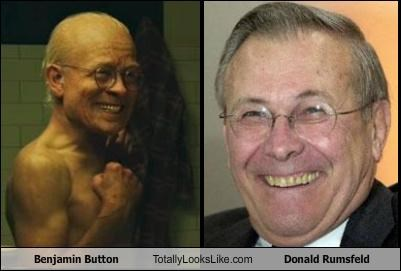 actors benjamin button brad pitt donald rumsfeld movies politicians - 4861762560