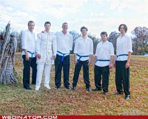 funny wedding photos groom Groomsmen karate - 4861918464