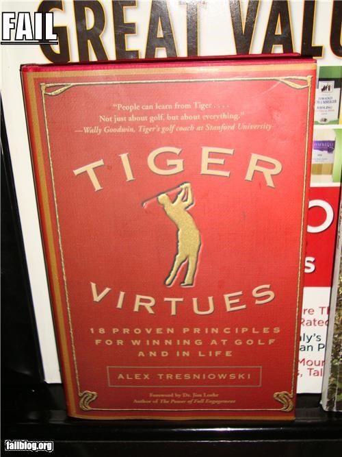 bad product book failboat golf g rated sports Tiger Woods - 4862460160